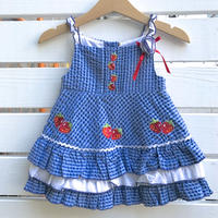 1062.【USED】Strawberry Frill Dress