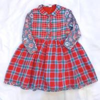 793.【USED】Flower Plaid MIX  Dress