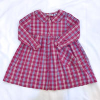 791.【USED】Purple Pink Plaid  Dress