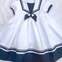 614.【USED】Sailor Design White  Dress