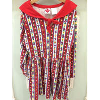 111.【USED】Red sailor collar dress