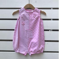 42.【USED】Pink butterfly Rompers