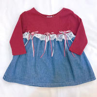 802.【USED】Switching  Rose Dress(made in U.S.A.)