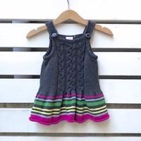 753.【USED】Multi border Knit  Dress