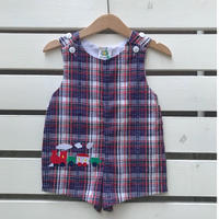 536.【USED】Train Rompers