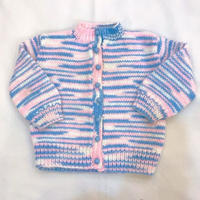 847.【USED】Marble Colour Knit Cardigan