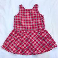 """1140.【USED】""""OSHKOSH"""" Plaid  Dress"""