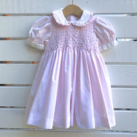 1066.【USED】Smock Embroidery  Dress