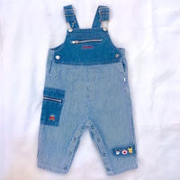 808.【USED】Cow Pig Horse Denim  Overall