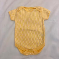 1759.【USED】Cream Yellow Dots Rompers