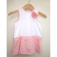 "171.【USED】""Baby Dior"" Orange Stripe Dress"