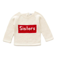 【Oeuf】Sisters Sweater-White/Red