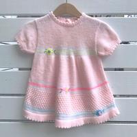952.【USED】Flower Line Knit  Dress