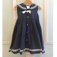 613.【USED】Sailor Design Navy Dress