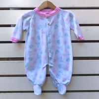 547.【USED】pastel color Flower Rompers
