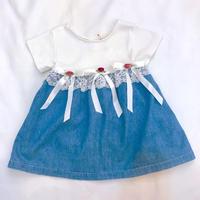 1112.【USED】Rose Ribbon Dress