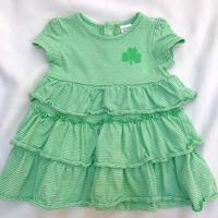 【 3mos 】Green Border Dress 1715.