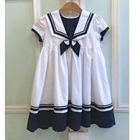 614.【USED】Sailor Design White  Dress