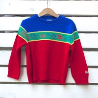 757.【USED】OSHKOSH  vehicle  Knit sweater(made in U.S.A.)