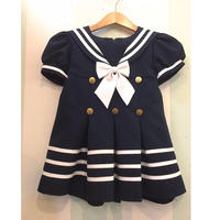260.【USED】Sailor Design Navy Dress ( Made in U.S.A.)