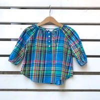 748.【USED】'Ralph Lauren' Blue Plaid Tops