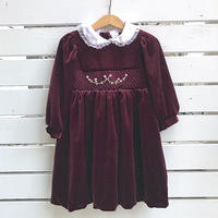 934.【USED】Smock embroidery Rose  Dress