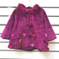110.【USED】Felt flower coat