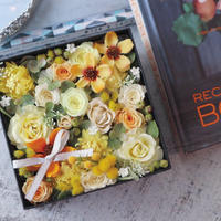 【1点もの/販売】Flower Box -Yellow × Green-