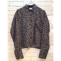 LEOPARD CROPPED SHIRTS GRAY