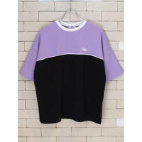 S/S TWO TONE TEE LAVENDER