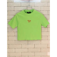 S/S CROPPED TEE LIME