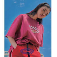 FEVERTIME CHECKER TEE PINK