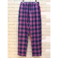 CHECK E-Z PANTS  PURPLE×RED