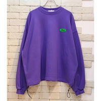 DRAW STRING OVERSIZED SWEAT PURPLE