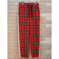 SIDE LINE CHECK PANTS RED