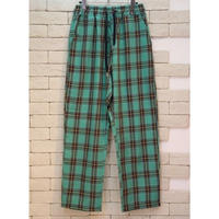 CHECK E-Z PANTS  GREEN