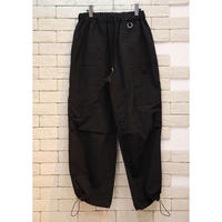 NYLON WIDE PANTS BLACK