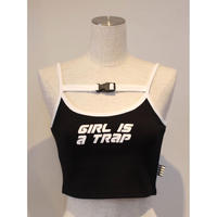 GIRL IS A TRAP CAMISOLE BLACK