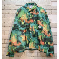 PARAGRAPH DYEING NYLON CROPPED SHIRTS GREEN