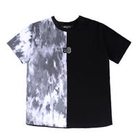 BASIC COTTON TWO TONE TEE TIE DYE/BLACK