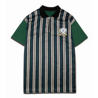 MIX H/Z STRIPE  TEE GREEN