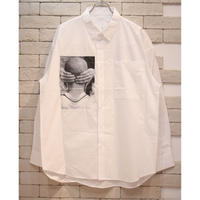 YOUTH PHOTO PRINT SHIRTS WHITE