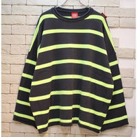 PARAGRAPH OVERSIZED BORDER KNIT CHARCOAL