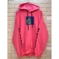 CHAOS PATCH SWEAT HOODIE PINK