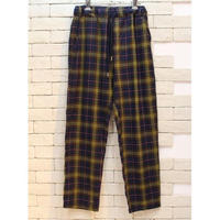 CHECK E-Z PANTS  NAVY×BROWN