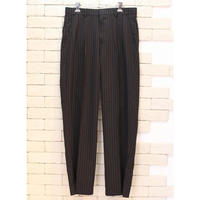 STRIPE SLACKS PANTS BLACK