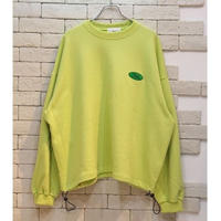 DRAW STRING OVERSIZED SWEAT  LIME
