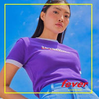 FEVERTIME RINGER TEE PURPLE