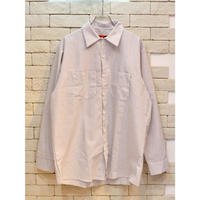 RED KAP INDUSTRIAL STRIPE SHIRT WHITE/CHARCOAL