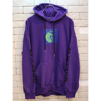 CHAOS PATCH SWEAT HOODIE PURPLE